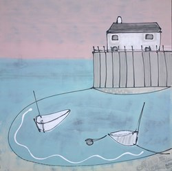 Peaceful Harbour by Charlotte Turner -  sized 36x36 inches. Available from Whitewall Galleries